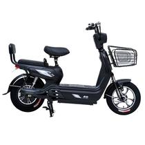 小刀 T60电动自行车 宽脚踏板新款48V大动力高性能代步车 14寸电瓶车 超威电池 消光黑产品图片主图