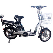 科迅 23Z电动车16吋锂电车48V 14串大容量锂电池电动自行车亮黑色