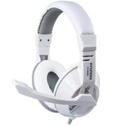 现代 HY-H6880 立体声游戏耳机/头戴轻盈/全指向麦 白灰色