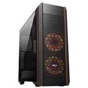 爱国者 风行 黑色 电竞电脑机箱(支持ATX主板/标配RGB风扇*3/七彩灯光/双U3/调速器/读卡器/双侧透)