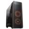 爱国者 风行 黑色 电竞电脑机箱(支持ATX主板/标配RGB风扇*3/七彩灯光/双U3/调速器/读卡器/双侧透)产品图片1