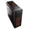 爱国者 风行 黑色 电竞电脑机箱(支持ATX主板/标配RGB风扇*3/七彩灯光/双U3/调速器/读卡器/双侧透)产品图片2