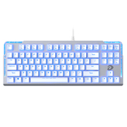 达尔优 EK815 87键水流背光游戏机械键盘 白色 茶轴
