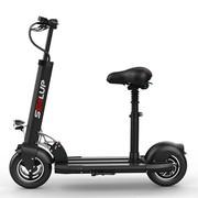 简也 迷你电动车自行车电动滑板车成人折叠代驾两轮代步车锂电池 黑色 70-80公里