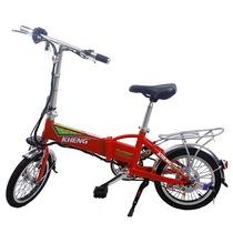 恺亨 迷你电动自行车 超轻便可折叠锂电瓶车 时尚助力车代步锂电车 中国红16寸产品图片主图