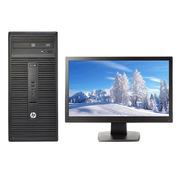 惠普  280G2 MT 台式电脑(i3-6100 4G 500G DVDRW Win7 19.5英寸显示器)