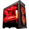 长城 魔镜M-12H电竞游戏机箱加强版黑色(水冷/全侧透/独立电源仓/磁吸防尘)产品图片1