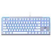 达尔优 EK815 87键水流背光游戏机械键盘 白色 青轴