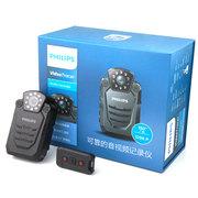飞利浦 VTR8200 便携音视频记录仪1296P高清红外广角夜视摄像机执法仪录音笔拍照一体机 激光定位