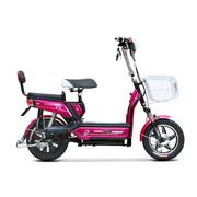 小刀 电动车 TDT-1514Z 新款双动力电动自行车 48V14寸踏板代步车悦翔骄阳桃红