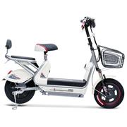 小刀 电动车 TDT-1532Z 新款48V20AH电动自行车 时尚踏板代步车小叮当A奶白