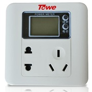 Towe TW-IM10Q 10A墙装式计量插座/家用办公智能面板 可显功率电压电量电费