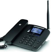 摩托罗拉 FW200LC无线插卡电话机无线移动固话办公家用固定座机支持电信手机卡SIM卡(黑色)