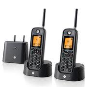摩托罗拉 O202C 电话机 远距离数字无绳套装 橙色背光电话簿中英文显示菜单可扩展 固定无线座机