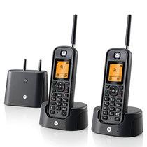摩托罗拉 O202C 电话机 远距离数字无绳套装 橙色背光电话簿中英文显示菜单可扩展 固定无线座机产品图片主图