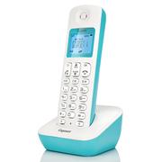 德国金阶 原西门子品牌电话机A190L数字无绳电话单机中文显示双免提屏幕蓝色背光家用办公座机子母机(冰湖蓝)
