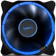 先马 光环 12CM蓝光 机箱风扇 (环形光圈/小3拼+大四拼接口/电竞氛围/低噪音/高效散热/阻燃)