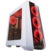 撒哈拉 走线大师GF6 透视厚板材游戏机箱 白色(大侧透/分体式五金/支持ATX大板)