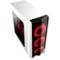 撒哈拉 走线大师GF6 透视厚板材游戏机箱 白色(大侧透/分体式五金/支持ATX大板)产品图片3