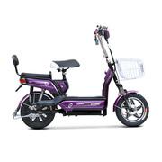 小刀 电动车 TDT-1514Z 新款双动力电动自行车 48V14寸踏板代步车悦翔琉璃紫