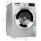 澳柯玛 XQG80-B1279SK 8公斤 变频滚筒洗衣机 LED显示屏 (银色)产品图片2