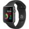 苹果 Watch Sport Series 1智能手表(42毫米深空灰色铝金属表壳搭配黑色运动型表带)产品图片1