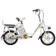 喜德盛 电动自行车48V锂电池电动车16寸一体轮电动自行车豹子5 白色 ( 韩国LG电池 )