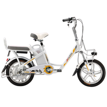 喜德盛 电动自行车48V锂电池电动车16寸一体轮电动自行车豹子5 白色 ( 韩国LG电池 )产品图片主图