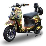 欧峰 代步车加长版男士女士72v小龟王电动车踏板车小型电瓶车自行车60v 迷彩色 套餐二 小龟王60V20A超威电池+礼包