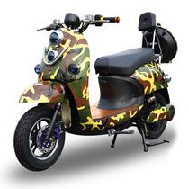 欧峰 代步车加长版男士女士72v小龟王电动车踏板车小型电瓶车自行车60v 迷彩色 套餐二 小龟王60V20A超威电池+礼包产品图片主图