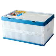 爱丽思 带盖折叠筐收纳筐 折叠箱26L透明/蓝