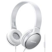 松下 RP-HF300M 白色 头戴式带麦一键线控 轻便立体声耳机 音效清晰非凡