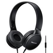 松下 RP-HF300M 黑色 头戴式带麦一键线控 轻便立体声耳机 音效清晰非凡