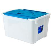 爱丽思 折翼式收纳箱 环保后备箱储物箱 车载整理收纳箱 CWL-48 蓝/白色