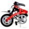 JQ 悠骑迷你电动车 折叠电动自行车 超轻锂电自行车 悠美款  12寸中国红产品图片4