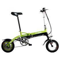 永久 电动自行车 36V 锂电池 12吋 迷你电动车 折叠锂电动车 超轻mini 黑绿色 12吋产品图片主图