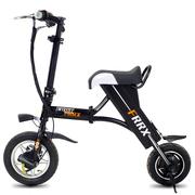 法克斯 Mini折叠电动自行车锂电滑板车成人男女迷你单车助力代驾代步车 黑色30公里续航