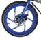 易可达 镁铝合金五级变速智能助力可折叠锂电电动自行车20寸一体轮男女式学生成人通用 宝石蓝产品图片4