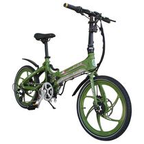 易可达 镁铝合金五级变速智能助力可折叠锂电电动自行车20寸一体轮男女式学生成人通用 军中绿产品图片主图
