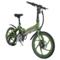 易可达 镁铝合金五级变速智能助力可折叠锂电电动自行车20寸一体轮男女式学生成人通用 军中绿产品图片1