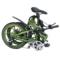 易可达 镁铝合金五级变速智能助力可折叠锂电电动自行车20寸一体轮男女式学生成人通用 军中绿产品图片2