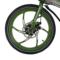 易可达 镁铝合金五级变速智能助力可折叠锂电电动自行车20寸一体轮男女式学生成人通用 军中绿产品图片4