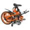 易可达 镁铝合金五级变速智能助力可折叠锂电电动自行车20寸一体轮男女式学生成人通用 炫酷橘产品图片2