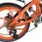 易可达 镁铝合金五级变速智能助力可折叠锂电电动自行车20寸一体轮男女式学生成人通用 炫酷橘产品图片3