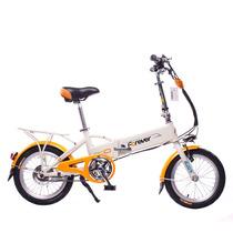 永久 折叠电动车 mini电动车 锂电电动自行车 16寸36V隐藏可锁锂电池 亮橙产品图片主图