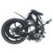 易可达 镁铝合金五级变速智能助力可折叠锂电电动自行车20寸一体轮男女式学生成人通用 气质黑产品图片2