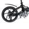 易可达 镁铝合金五级变速智能助力可折叠锂电电动自行车20寸一体轮男女式学生成人通用 气质黑产品图片3