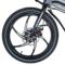 易可达 镁铝合金五级变速智能助力可折叠锂电电动自行车20寸一体轮男女式学生成人通用 气质黑产品图片4
