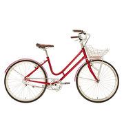 700Bike 百花女式优雅通勤 城市公路自行车 智能单车 自动变速 GPS定位 贵妃红 L(163.175)
