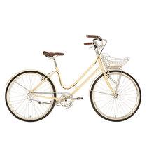 700Bike 百花女式优雅通勤 城市公路自行车 智能单车 自动变速 GPS定位 凝脂白 L(163.175)产品图片主图